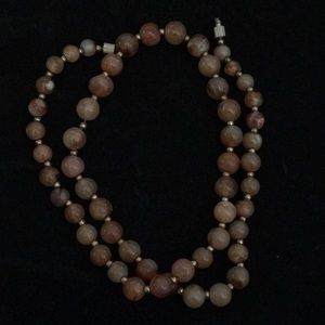 Necklace, glass beads